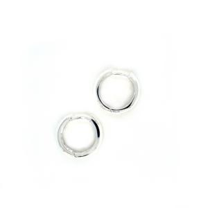 Leon Baker Sterling Silver Hoop Earrings_0