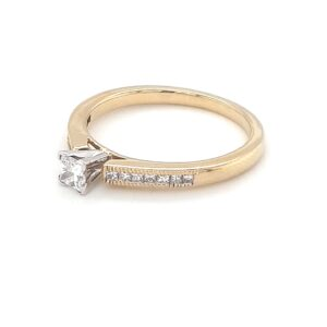 Leon Bakers Ladies 18K Yellow Gold Solitaire Ring_1