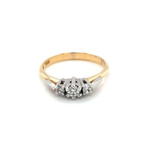 Leon Bakers 18K Yellow Gold Ring with White Gold Trilogy Setting_0